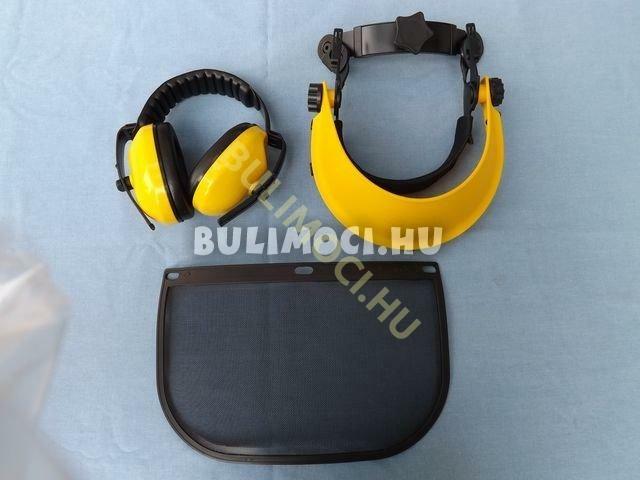 Védőálarc szita+fülvédő8798